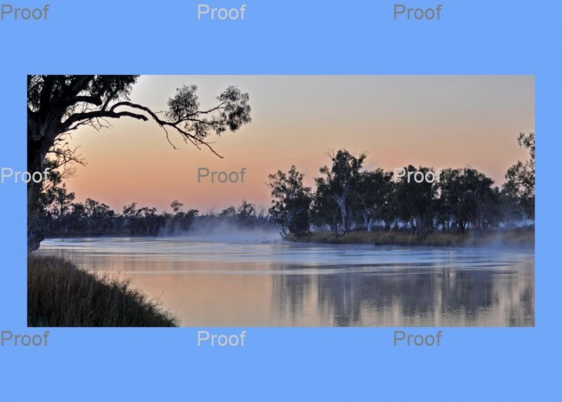 Misty Dawn on The River Murray, Talorville, Riverland South Australia,