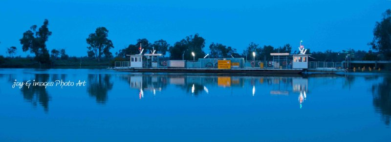 Waikerie Ferry Crossing at Dusk