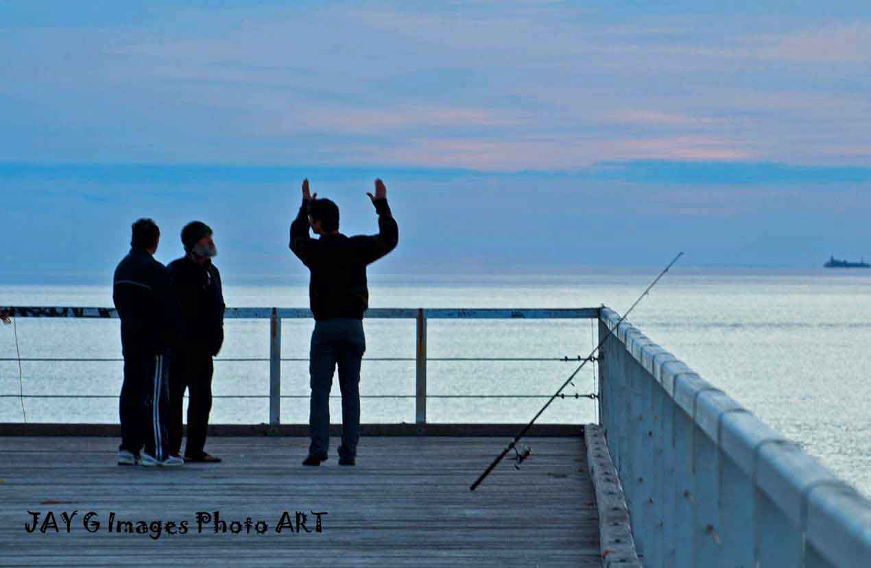 Semaphore Jetty Fisherman