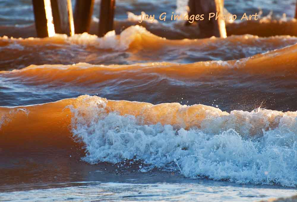 Henley Beach sunlit waves