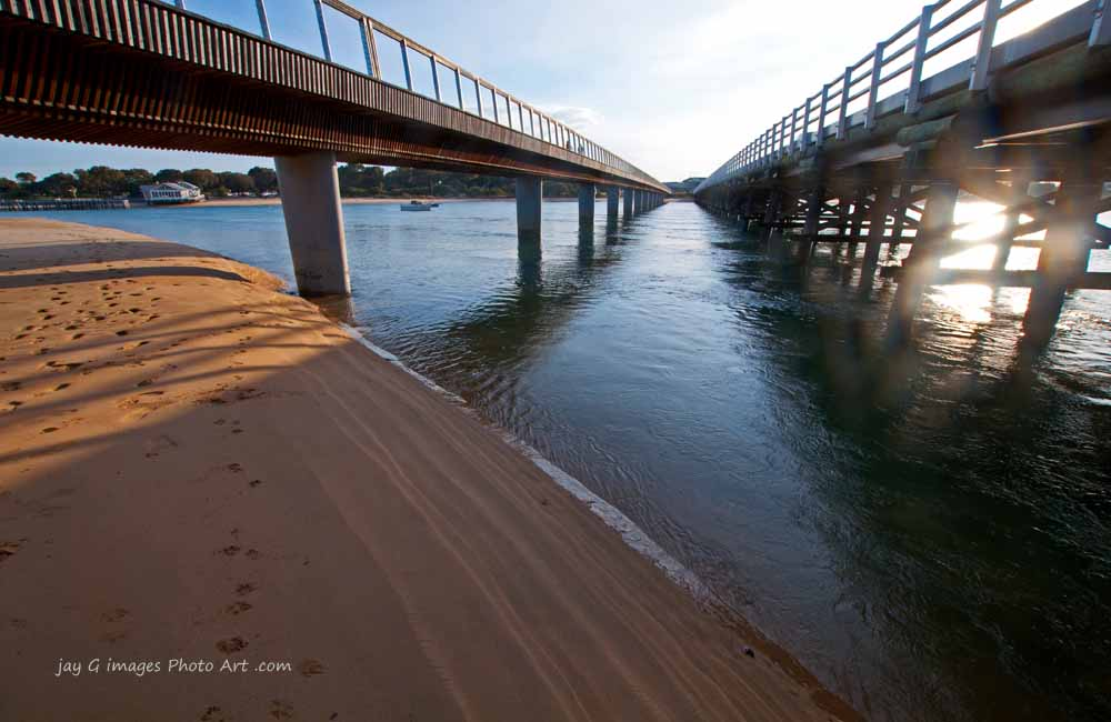 Twin bridges at Barwon Heads